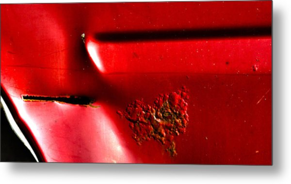 Red Gash Metal Print