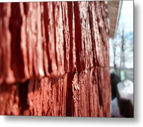 Red Gristmill Metal Print by Jenna Mengersen