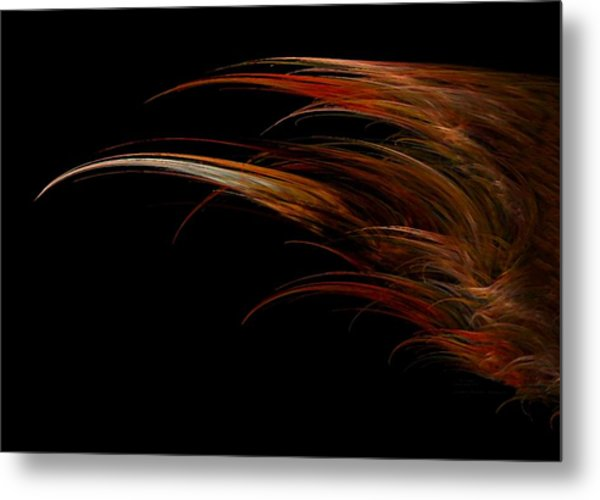 Red Headed Angel Wing Metal Print by Madeline  Allen - SmudgeArt