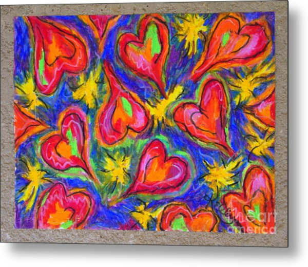 Red Hearts Metal Print by Kelly Athena