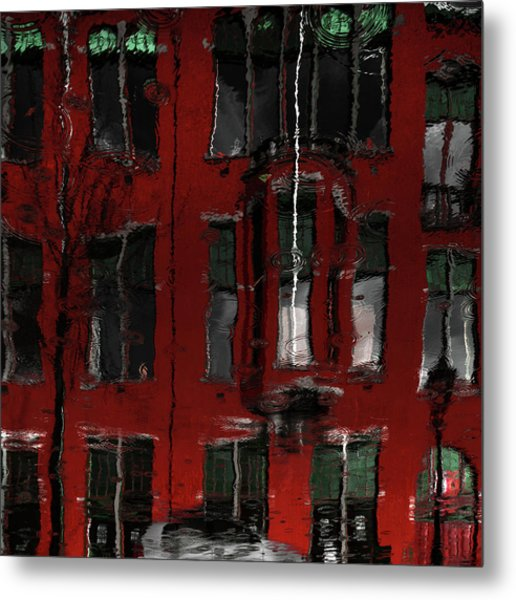Red House Reflections Metal Print