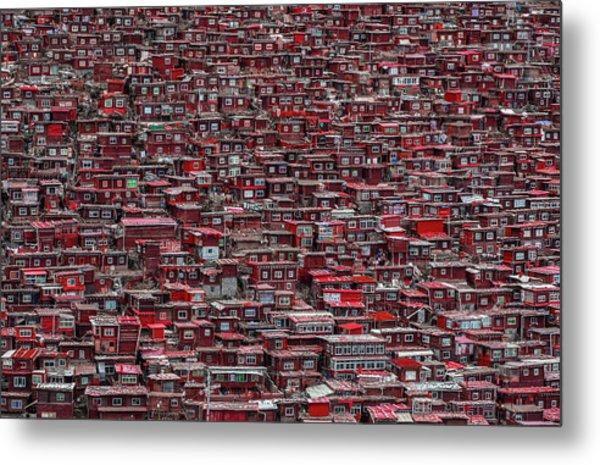 Red Houses Metal Print