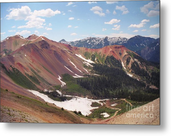 Red Iron Mountain Metal Print