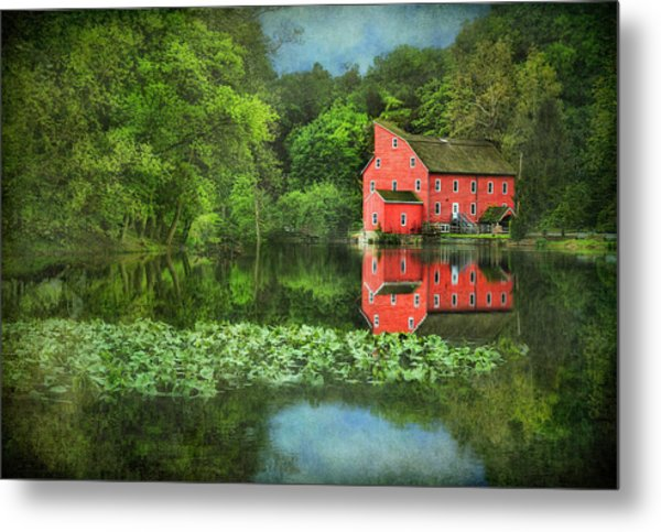 Red Mill Art Metal Print