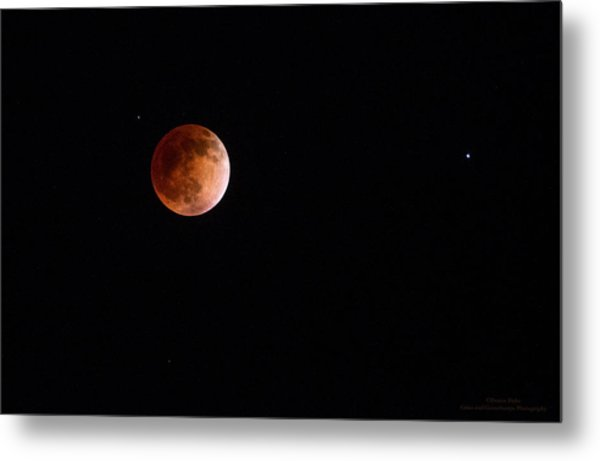 Red Moon And Spica By Denise Dube Metal Print