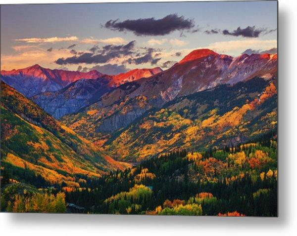 Red Mountain Pass Sunset Metal Print