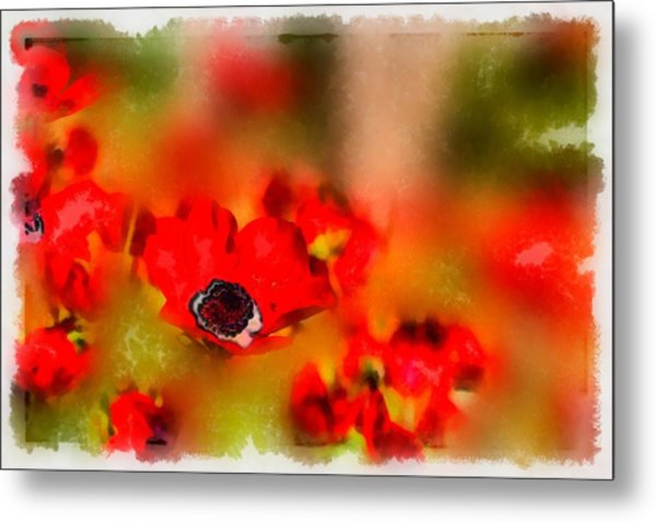 Red Poppies Inspiration Metal Print