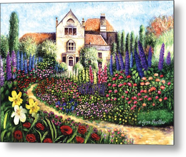 Metal Print featuring the painting Red Poppies by Lynn Buettner