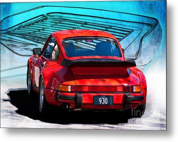Red Porsche 930 Turbo Metal Print