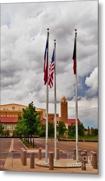 Metal Print featuring the photograph Red Raider Spirit Arena by Mae Wertz