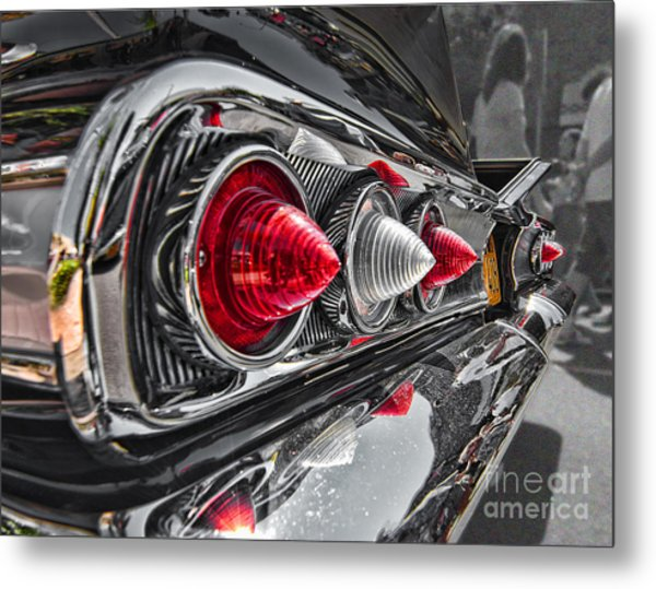 Red Reflection Metal Print by Hot Rod Pics