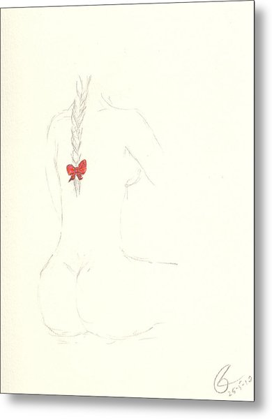 Red Ribbon Metal Print by Paolo Marini