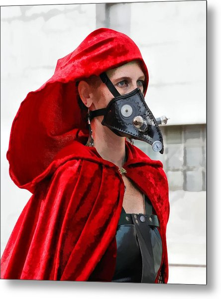 Red Riding Hood Metal Print by James Stough