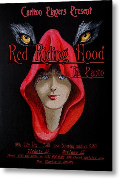 Red Riding Hood Metal Print by Steve Jones