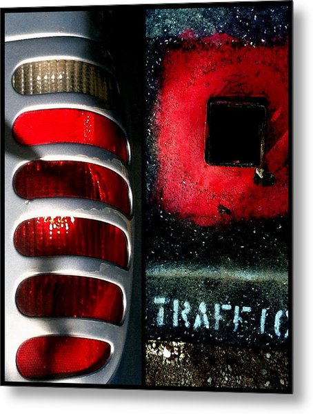 Red Road Rage Metal Print