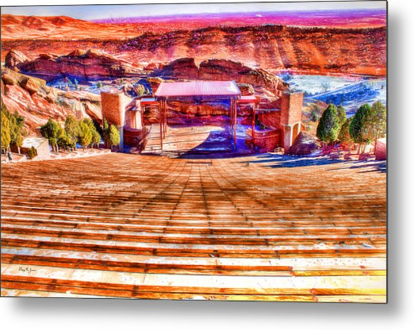 Colorado - Famous - Red Rock Amphitheater Metal Print