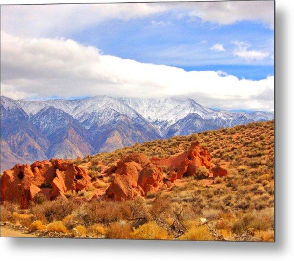 Red Rock And Desert Metal Print