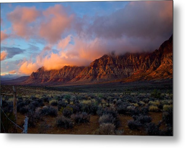 Red Rock Canyon National Conservation Area Las Vegas Metal Print