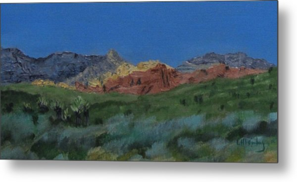 Red Rock Canyon Panorama Metal Print