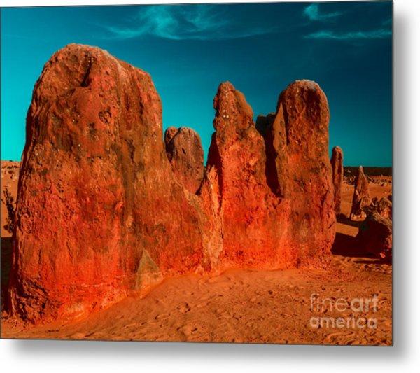 Red Rock Pinnacle Metal Print