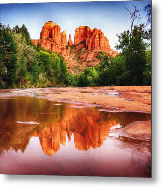 Red Rock State Park - Cathedral Rock Metal Print