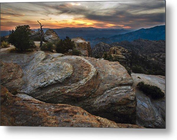 Red Rock Sunset On Mount Lemmon Arizona Metal Print