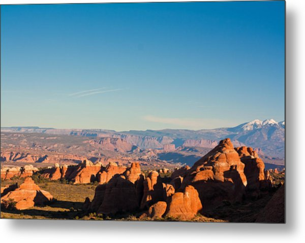 Red Rocks And The La Sal's Metal Print