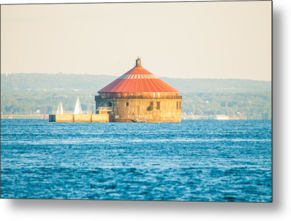 Red Roofed Pump House Metal Print