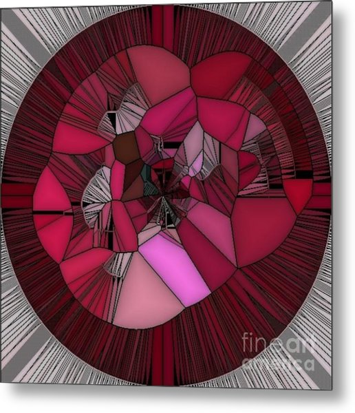 Red Rose In The Heart Metal Print