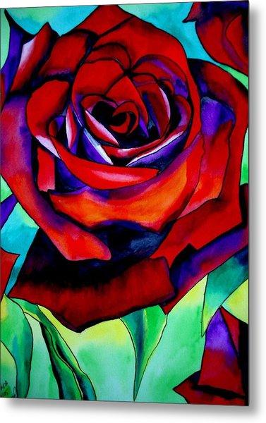 Red Rose Macro 2 Metal Print by Sacha Grossel