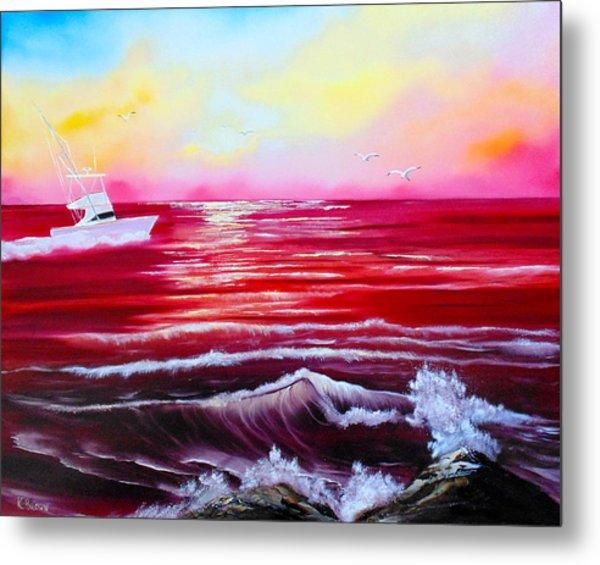Red Seas Metal Print