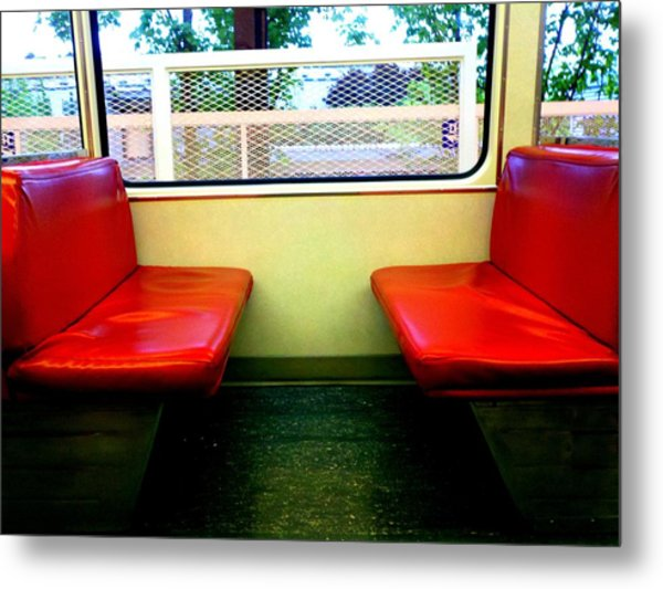 Red Seats Transportation Metal Print