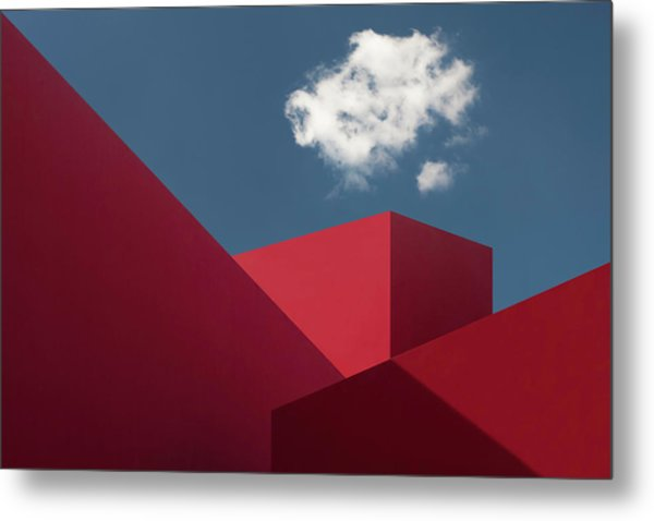 Red Shapes Metal Print by Hugo Borges