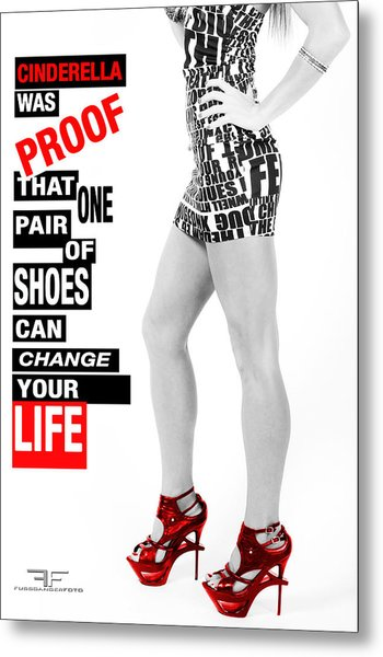 Red Shoes Metal Print by Fussgangerfoto
