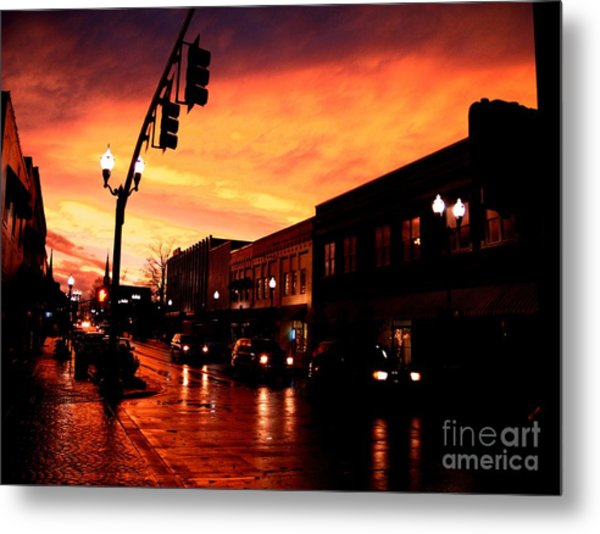 Red Sky At Dusk Metal Print by   Joe Beasley