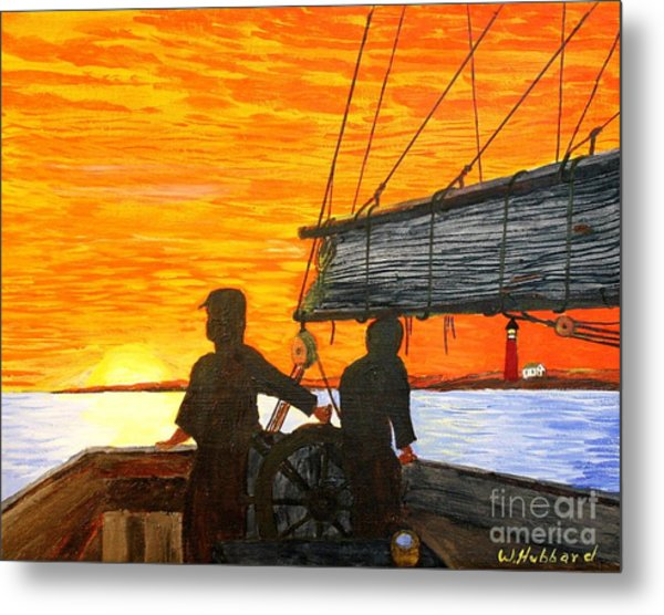 Red Sky At Night A Sailor's Delight Metal Print