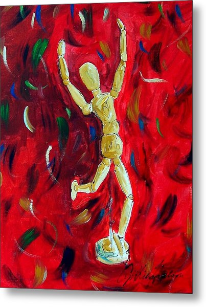 Red Stance Metal Print by Cynthia Hudson