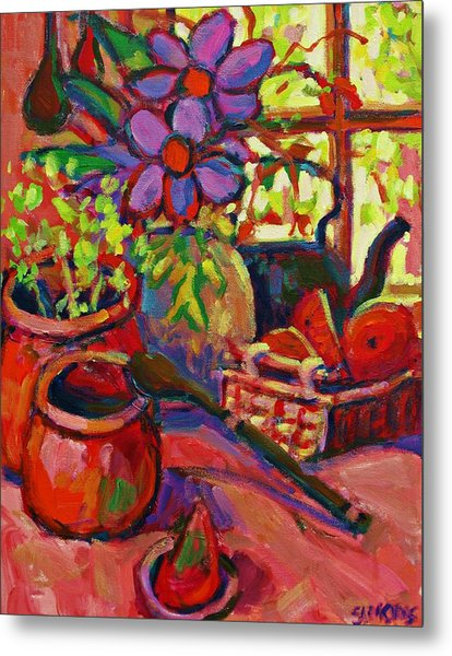 Red Still Life Metal Print by Brian Simons