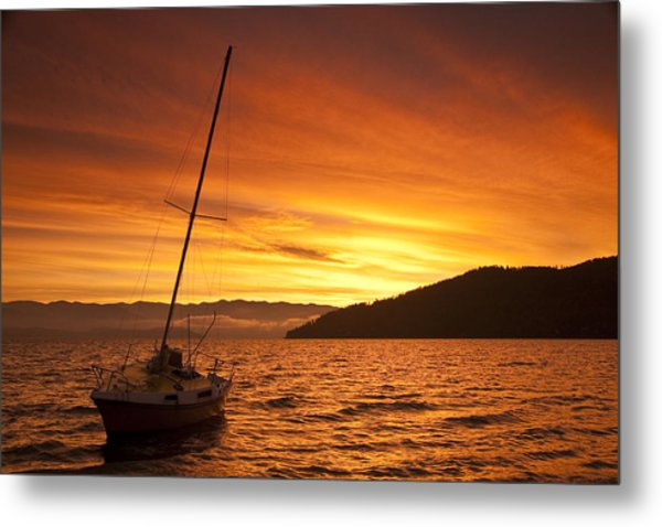 Red Sunrise Metal Print by Randolph Fritz