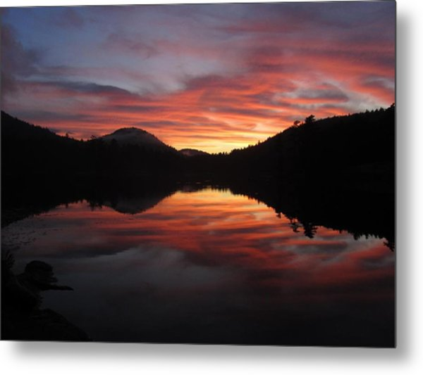 Metal Print featuring the photograph Red Sunset by Jessica Tabora