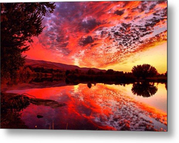 Red Sunset Metal Print