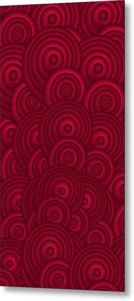 Red Swirls Metal Print