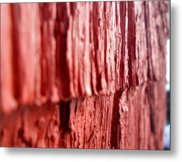 Red Texture Metal Print by Jenna Mengersen