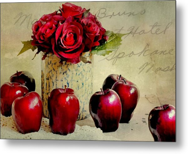 Red To Red Metal Print