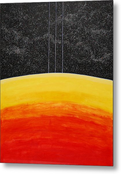 Red To Yellow Spacescape Metal Print