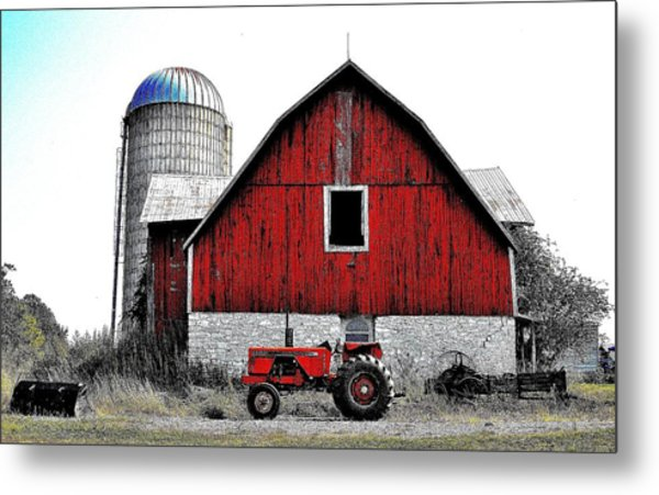 Red Tractor - Canada Metal Print