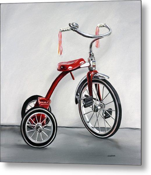 Red Tricycle 1 Metal Print