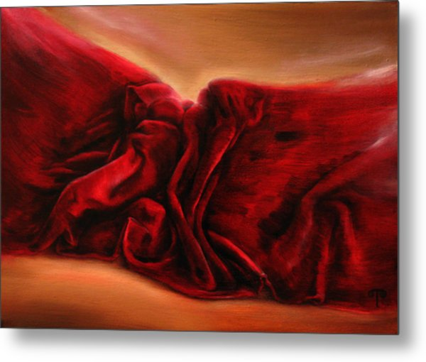 Red Velvet Metal Print by Tanya Byrd