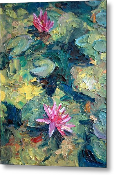 Red Waterlily  Metal Print