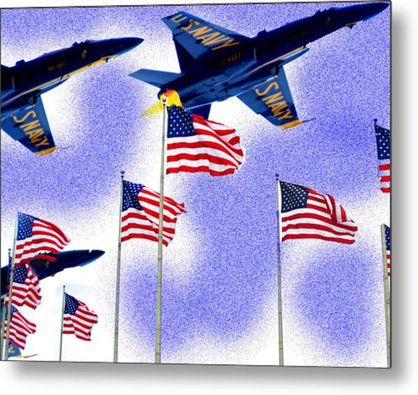Red White And Blue Angels Metal Print by Frank Savarese